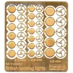 British landing lights - 1/72 PE set
