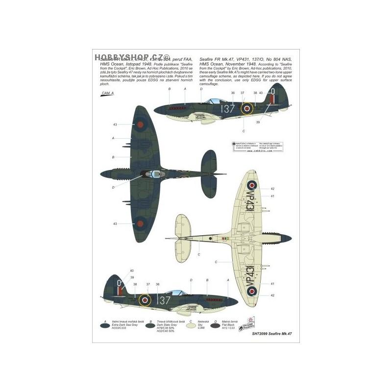 seafire fr mk 47- 1  72 kit