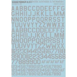 USAF Modern Stencil Letters Numbers WHITE Decal - Decal numbers lettersusaf modern stencil lettersnumbers whitedecal