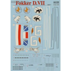 Fokker D.VII Part 2 w/lozenge - 1/48 decal