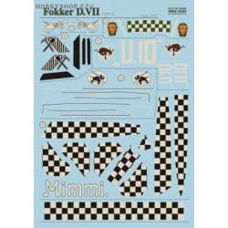Fokker D.VII Part 2 w/lozenge - 1/72 decal