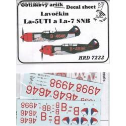 La-5FN, La-5UTI & La-7 SNB - 1/72 decal