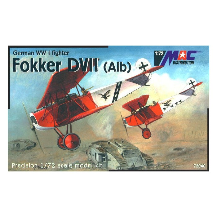 Fokker DVII (Alb) - 1/72 kit