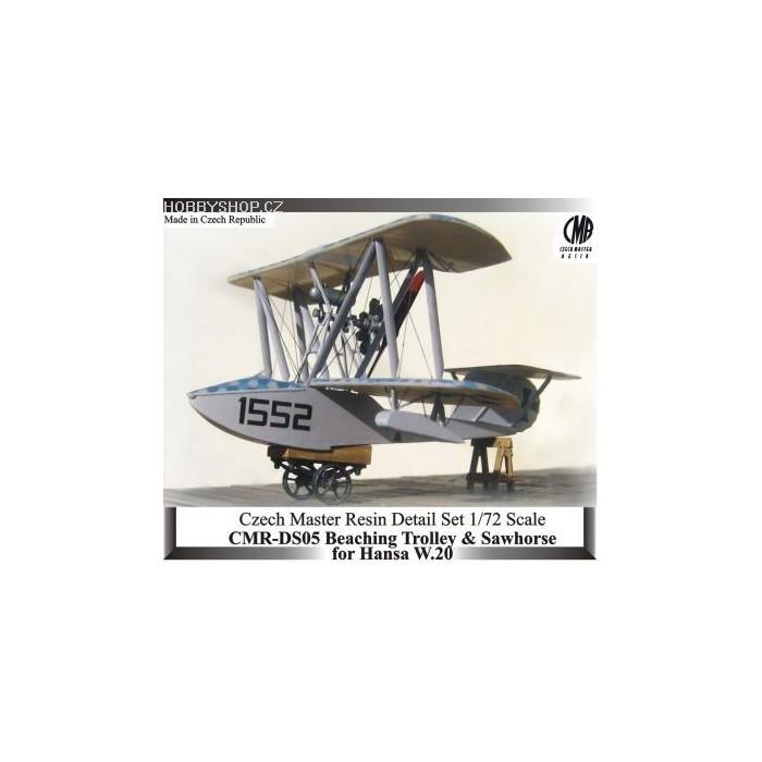 Beaching Dolly for Hansa W.20 Flying Boat - 1/72 resin kit