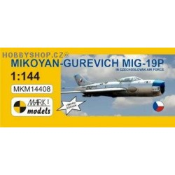 MiG-19P Farmer B 'In Czechoslovak Air Force' - 1/144 plastic kit