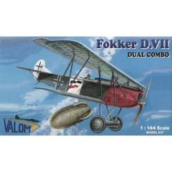 Fokker D.VII Dual Combo - 1/144 kit