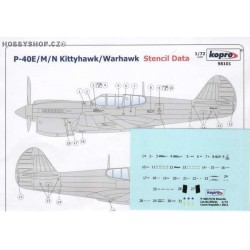 P-40E/M/N Stencil Data - 1/72 decal
