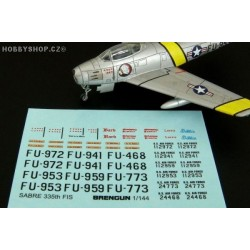 F-86F SABRE 335th FIS - 1/144 decals