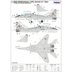 MiG-29UB Fulcrum 1303 Slovak Tiger - 1/72 decal