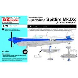 Spitfire Mk.IXc In Civil Service - 1/72 kit
