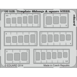 Template oblongs & square STEEL - PE tool