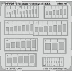 Template oblongs STEEL - PE tool