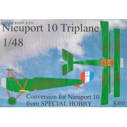 Nieuport 10 Triplane Conversion - 1/48 resin kit