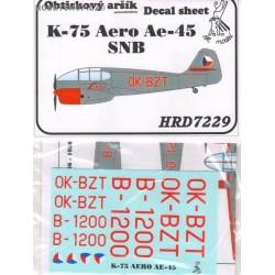 K-75 / Aero Ae-45 SNB - 1/72 decal