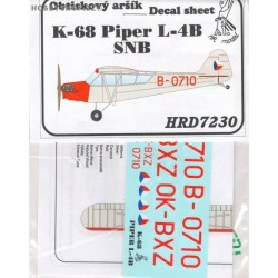 K-68 / Piper L-4B SNB - 1/72 decal