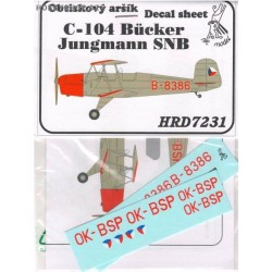 Aero C-104 / Bücker Jungmann SNB - 1/72 decal