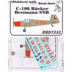 Zlin C-106 / Bücker Bestmann SNB - 1/72 decal