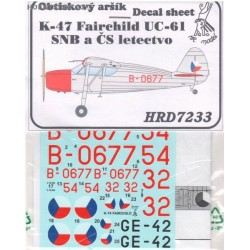 K-47 / Fairchild UC-61 SNB and CSAF - 1/72 decal