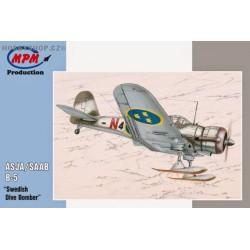 ASJA / SAAB B-5 Swedish Dive Bomber - 1/72 kit