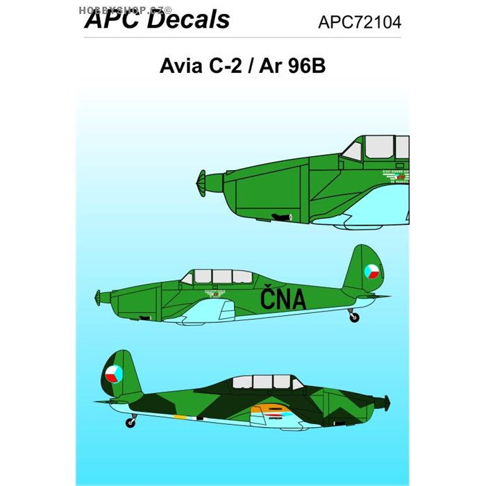 Avia C-2 / Arado Ar 96B  - 1/72 decal