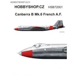 Canberra B Mk.6 Armée de l'Air  - 1/72 decal
