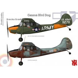 Cessna Bird Dog A3 print by Srecko Bradic