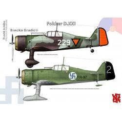 Fokker D.XXI A3 print by Srecko Bradic