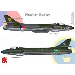Hawker Hunter - A3 print by Srecko Bradic