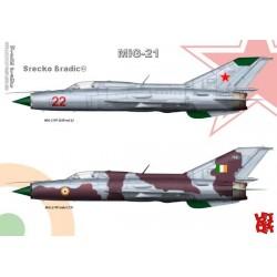 MiG-21PF - A3 print by Srecko Bradic