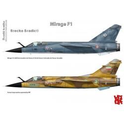 Mirage F1 - A3 print by Srecko Bradic