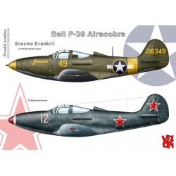 Bell P-39 Airacobra - A3 print by Srecko Bradic