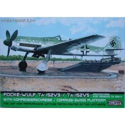 Focke-Wulf Ta 152V-3/V-5 with Kompensierchreibe - 1/72 kit