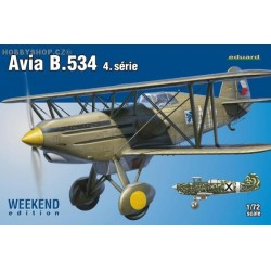 Avia B.534 IV. série Weekend - 1/72 kit