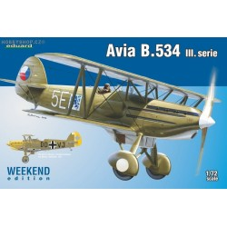 Avia B.534 III. serie Weekend - 1/72 kit