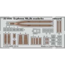 Typhoon Mk.Ib seatbelts - 1/24 painted PE set