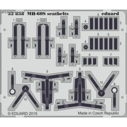 MH-60S seatbelts - 1/35 painted PE set