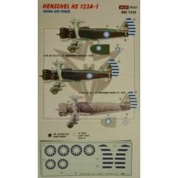 Henschel HS 123A-1 China - 1/72 decals