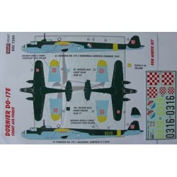 Dornier Do-17E Croatia - 1/72 decals