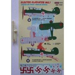 Gloster Gladiator Mk.I Latvia - 1/72 decals