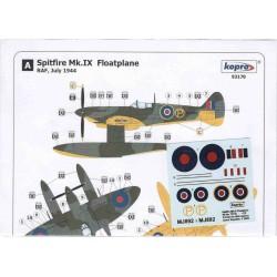 Spitfire Mk.IX Floatplane - 1/72 decal