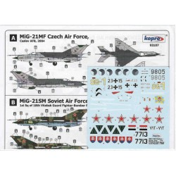 MiG-21MF Fishbed J - 1/72 decal