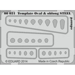 Template ovals & oblong STEEL - PE tool