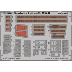 Seatbelts Luftwaffe WWII - Painted - 1/24 PE set