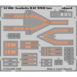 Seatbelts RAF WWII late - Painted - 1/24 PE set