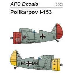 Captured Polikarpov I-153 - 1/48 decal