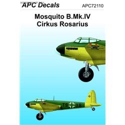 Mosquito Mk.IV Cirkus Rosarius - 1/72 obtisk