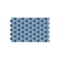 Marine lozenge - blue hexagons - 1/72 decal