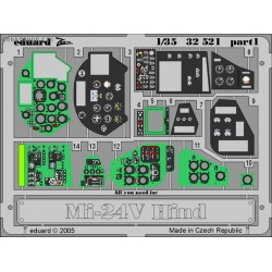 Mi-24V Hind interior - Painted - 1/35 PE set