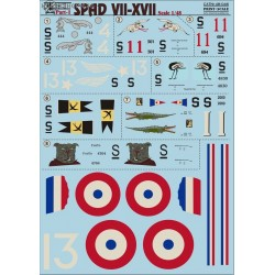 SPAD VII-XVII part 1 - 1/48 decal
