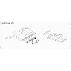 Westland Wyvern S.4 Wing Fold set - 1/72 set